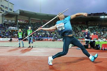 Vitezslav Vesely, winner of the javelin in Oslo (Jiro Mochizuki)