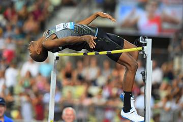 Mutaz Essa Barshim at the 2016 IAAF Diamond League meeting in Lausanne (Gladys von der Laage)