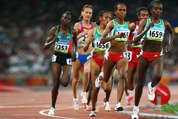 Tirunesh Dibaba unleashes her sprint for home to win the 5000m (Getty Images)