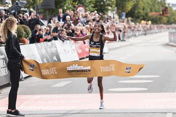 Sifan Hassan wins the Copenhagen Half Marathon (Organisers)