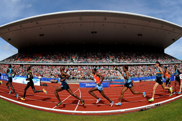 Mo Farah in action at the IAAF Diamond League meeting in Birmingham (Jean-Pierre Durand)