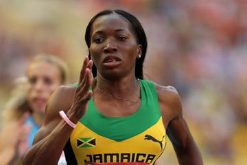 Novlene Williams Mills in the womens 400m at the IAAF World Athletics Championships Moscow 2013 (Getty Images)