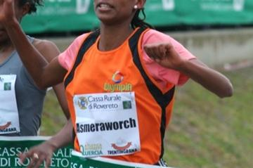 Asmeraworch Bekele collects a narrow win at the Cross della Vallagarina (Lorenzo Sampaolo)
