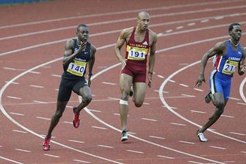 Julian Golding winning the 200m at the AAA championships (Getty Images)