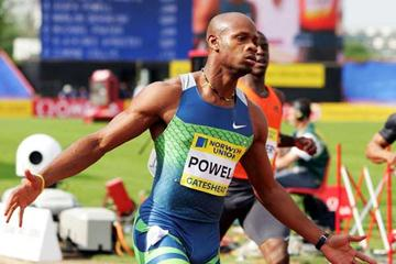 Asafa Powell equals the World record - Gateshead (Getty Images)