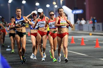 Liu Hong in the 20km race walk at the IAAF World Athletics Championships Doha 2019 (AFP / Getty Images)