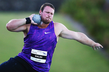 Tom Walsh in the shot put at the Auckland Track Challenge (Getty Images)