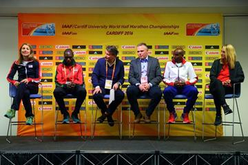 The press conference for the IAAF/Cardiff University World Half Marathon Championships Cardiff 2016 (Getty Images)