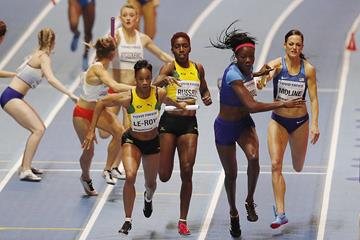 The women's 4x400m at the IAAF World Indoor Championships Birmingham 2018 (AFP / Getty Images)