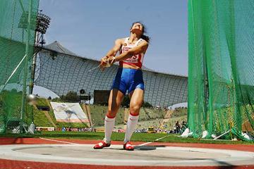 Tatyana Lysenko (RUS) - 75.86m in Munich (Getty Images / Bongarts)