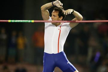 Renaud Lavillenie at the IAAF Diamond League final in Brussels (Gladys von der Laage)