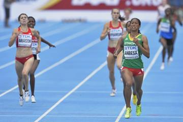 Adanech Anbesa wins the 1500m at the IAAF World U20 Championships Bydgoszcz 2016 (Getty Images)