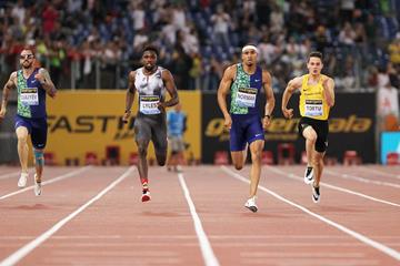 Michael Norman en route to his 200m win at the IAAF Diamond League meeting in Rome (Jean-Pierre Durand)