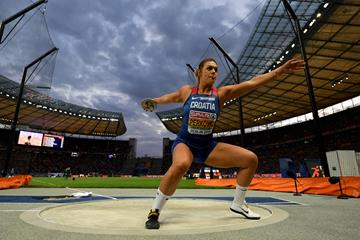 Discus winner Sandra Perkovic at the European Championships in Berlin (Getty Images)