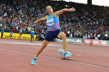 Barbora Spotakova on her way to winning the javelin at the IAAF Diamond League final in Zurich (Jiro Mochizuki)