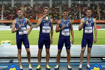 The victorious USA 4x800m quartet at the IAAF/BTC World Relays Bahamas 2017 (Getty Images)