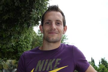 Renaud Lavillenie at the pre-event press conference for the 2013 IAAF Diamond League meeting in Rome (Giancarlo Colombo)
