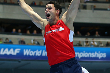 Pole vault bronze medallist Jan Kudlicka at the 2014 IAAF World Indoor Championships in Sopot (Getty Images)