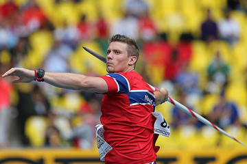 Andreas Thorkildsen in the javelin at the IAAF World Championships Moscow 2013 (Getty images)