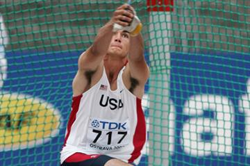 Conor McCullough of USA in action in the Hammer Throw qualification (Getty Images)
