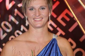 Barbora Spotakova after winning the Czech athlete of the year award for the fifth time (Tomáš Železný for atletika.cz)
