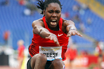 USA's Brittney Reese in action in the long jump (Getty Images)