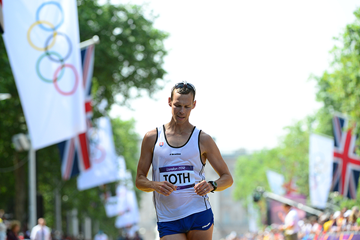 Matej Toth in the 50km race walk at the London 2012 Olympic Games (AFP / Getty Images)