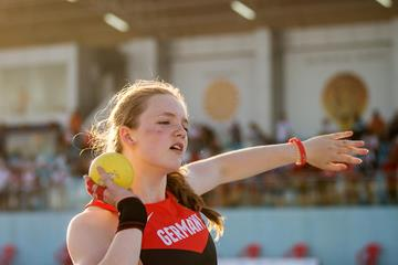 Jule Steuer of Germany at the European Youth Championships (Getty Images)
