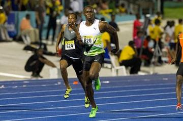 Fast opener for Usain Bolt - 9.82 in Kingston (Errol Anderson - The SportingImage.net)