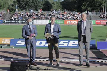World Athletics Heritage Plaque Ceremony, Turku - Ilkka Kanerva, Jari Salonen, Antti Pihlakoski (PNG)