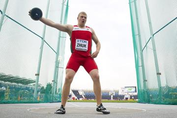 Discus bronze medallist Hleb Zhuk at the IAAF World U20 Championships Bydgoszcz 2016 (Getty Images)