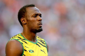 Usain Bolt at the 2013 World Championships in Moscow ()