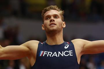 Kevin Mayer in the heptathlon 1000m (Getty Images)