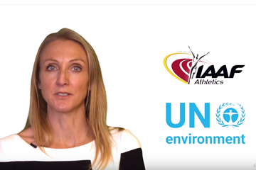 IAAF ambassador and UN Environment Advocate for Clean Air Paula Radcliffe (IAAF)