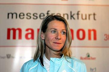 Marleen Renders at the Frankfurt press conference (Victah Sailer)