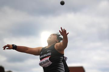 Madison-Lee Wesche in the shot put at the IAAF World U20 Championships Tampere 2018 (Getty Images)