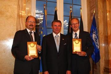 Wolfgang Fröhlich, Sergey Bubka, Wolfgang Schuster - IAAF Dinner, Stuttgart, Germany (Getty Images)