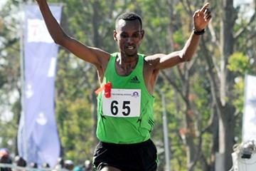 Mesfin Alemu, winner of the 2011 Obudu Mountain Race (Organisers)