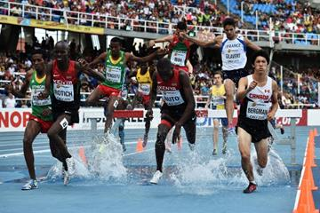 The boys' 2000m steeplechase final at the IAAF World Youth Championships, Cali 2015 (Getty Images)