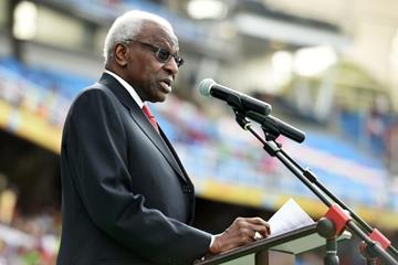 IAAF President Lamine Diack at the opening ceremony at the IAAF World Youth Championships, Cali 2015 (Getty Images)