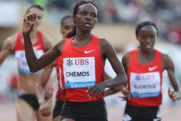 Milcah Chemos takes another Diamond Race victory, this time in Lausanne (Giancarlo Colombo)