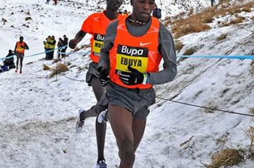 Joseph Ebuya on his way to victory over Kenenisa Bekele in Edinburgh (Mark Shearman)