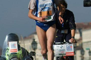 Vincenza Sicari of Italy on the way to victory in Florence (Lorenzo Sampaolo)
