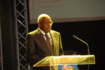 Lamine Diack speaking at the 50th Anniversary of the Moroccan Federation (c)