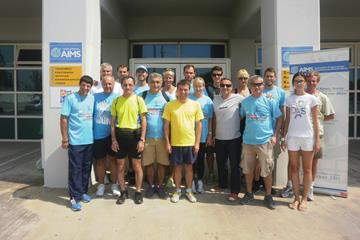 Participants at the AIMS-IAAF Course Measurement Seminar (AIMS)