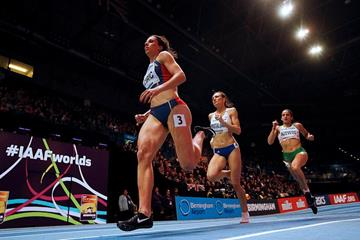 Maja Ciric in the 400m heats at the IAAF World Indoor Championships Birmingham 2018 (Getty Images)