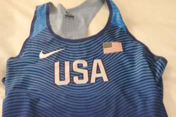 Michelle Carter's 2016 Olympic qualifying kit (IAAF)