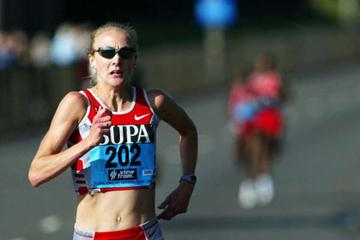 Paula Radcliffe on her way to winning the 2003 Great North Run (Getty Images)