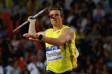 Andreas Thorkildsen produces a last-round throw of 87.75m to win the Javelin Throw (Getty Images)