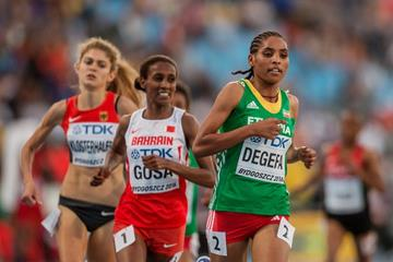 Beyenu Degefa in the 3000m at the IAAF World U20 Championships Bydgoszcz 2016 (Getty Images)